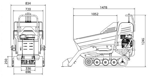 H500C-dimensions